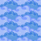 Naadloos van wolken in verschillende kleuren van blauw Royalty-vrije Stock Foto
