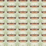 Naadloos vector abstract mozaïekpatroon Royalty-vrije Stock Foto