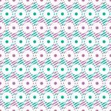 Naadloos vector abstract patroon Geometrische symmetrische het herhalen achtergrond in roze en groene kleuren Stock Afbeelding