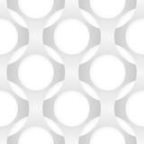Naadloos vector abstract patroon Ineenstrengelende vormen Stock Afbeeldingen