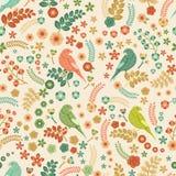 Naadloos vector bloemenpatroon Royalty-vrije Stock Fotografie