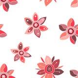 Naadloos vector bloemenpatroon, decoratieve leuke hand getrokken kinderlijke achtergrond met bloemen Druk voor het verpakken, ach Stock Fotografie