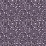 Naadloos vector bloemenpatroon Donkere grijze hand getrokken achtergrond met abstracte bloemen Stock Foto's