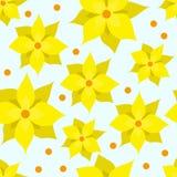 Naadloos vector bloemenpatroon met gele narcissen royalty-vrije illustratie