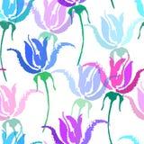 Naadloos vector bloemenpatroon Mooie vectorhand getrokken textuur Romantische botanische achtergrond voor Web-pagina's vector illustratie