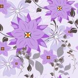 Naadloos vector bloemenpatroon Voor gemakkelijk makend naadloos patroon enkel om al groep in monstersbar te slepen Stock Foto