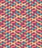 Naadloos vector geometrisch patroon met kleurrijke kruisen Eindeloze zigzag abstracte achtergrond stock illustratie
