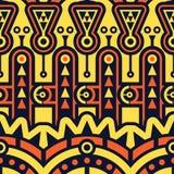 Naadloos Vector Geometrisch patroon Techno Stammen Stock Afbeelding
