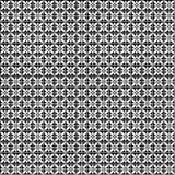Naadloos Vector Geometrisch patroon Zwart-witte achtergrond met bloemen Stock Foto