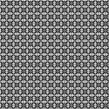 Naadloos Vector Geometrisch patroon Zwart-witte achtergrond met bloemen Royalty-vrije Stock Foto