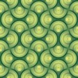 Naadloos vector groen organisch patroon als achtergrond w Royalty-vrije Stock Afbeelding