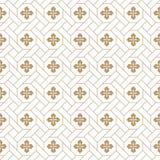 Naadloos vector Japans traditioneel geometrisch patroonontwerp met bloemsymbolen ontwerp voor textiel, verpakking, dekking vector illustratie