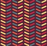 Naadloos vectorchevronpatroon Het patroon van de manierzigzag in retro kleuren, naadloze vectorachtergrond royalty-vrije illustratie