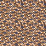 Naadloos vectorcontrastpatroon met retro bloemen vector illustratie