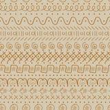 Naadloos vectorkrabbelpatroon in beige en bruin stock illustratie