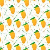 Naadloos vectormango'spatroon royalty-vrije illustratie