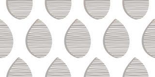 Naadloos vectorpatroon Abstracte dalingen met hand getrokken lijnenachtergrond Stoffenornament Eindeloze textielillustratie Stock Afbeeldingen