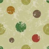 Naadloos vectorpatroon Creatieve geometrische bruine pastelkleurachtergrond met kleurrijke cirkels Royalty-vrije Stock Foto's