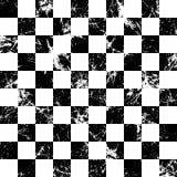 Naadloos vectorpatroon Creatieve geometrische geruite zwart-witte achtergrond met vierkanten Royalty-vrije Stock Fotografie
