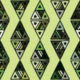 Naadloos vectorpatroon geometrische achtergrond met hand getrokken decoratieve stammenelementen Druk met etnisch, volks, traditio royalty-vrije illustratie