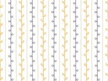 Naadloos vectorpatroon Hand getrokken takillustratie Abstracte verticale lijnen en takjes op witte achtergrond Royalty-vrije Stock Afbeeldingen
