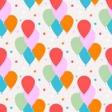 Naadloos vectorpatroon met ballons Stock Afbeelding