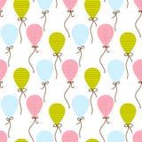 Naadloos vectorpatroon met ballons Stock Foto