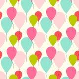 Naadloos vectorpatroon met ballons Royalty-vrije Stock Foto's