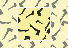 Naadloos vectorpatroon met beeld van vrouwelijke benen in kousen op lichte achtergrond met voorbeeld hoe te in ontwerp te gebruik Royalty-vrije Stock Afbeelding