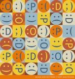 Naadloos vectorpatroon met de symbolen van de emoticonstekst Royalty-vrije Stock Foto