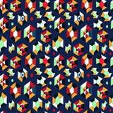 Naadloos vectorpatroon met diamanten Stock Foto