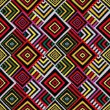 Naadloos vectorpatroon met een traditioneel geometrisch patroon Stock Foto