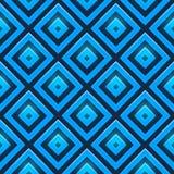 Naadloos vectorpatroon met glanzende vierkanten Stock Afbeelding
