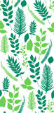 Naadloos vectorpatroon met groene bladeren Stock Foto's