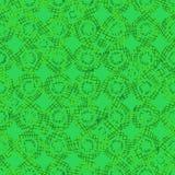Naadloos vectorpatroon met groene geweven cirkels die reptielhuid imiteren stock illustratie