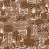 Naadloos vectorpatroon met hand getrokken accessor van het silhouetkuuroord Royalty-vrije Stock Fotografie