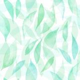 Naadloos vectorpatroon met hand getrokken waterverfbladeren Vector naadloze achtergrond Organische naadloze getrokken hand vector illustratie