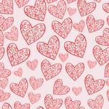 Naadloos Vectorpatroon met harten vector illustratie