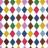 Naadloos vectorpatroon met heldere ruiten Royalty-vrije Stock Afbeeldingen