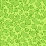 Naadloos vectorpatroon met heldergroene bladeren stock illustratie
