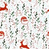 Naadloos vectorpatroon met Kerstmismotief royalty-vrije illustratie