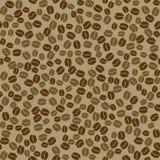 Naadloos vectorpatroon met koffiebonen Royalty-vrije Stock Foto's