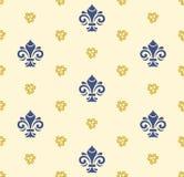 Naadloos Vectorpatroon met Koninklijke Lelie Royalty-vrije Stock Afbeeldingen