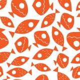 Naadloos vectorpatroon met leuke vissen stock illustratie