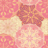 Naadloos vectorpatroon met mandalasymbolen Etnisch decoratief ornament Stock Foto's