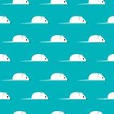 Naadloos vectorpatroon met mouses voor textiel, keramiek, stof, druk, kaarten, het verpakken royalty-vrije illustratie