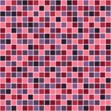 Naadloos vectorpatroon met vierkanten Eenvoudig geruit grafisch ontwerp getrokken achtergrond met kleine decoratieve elementen Dr Royalty-vrije Stock Afbeeldingen