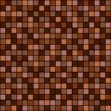 Naadloos vectorpatroon met vierkanten Eenvoudig geruit grafisch ontwerp getrokken achtergrond met kleine decoratieve elementen Dr Stock Fotografie