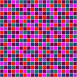 Naadloos vectorpatroon met vierkanten Eenvoudig geruit grafisch ontwerp getrokken achtergrond met kleine decoratieve elementen Dr Stock Foto