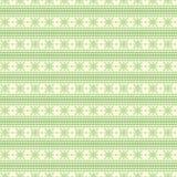 Naadloos vectorpatroon Symmetrische geometrische achtergrond met groene lijnen op de witte achtergrond Decoratief ornament Stock Foto's